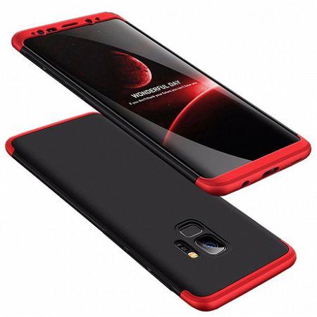 Műanyag tok 360 Full Body Protection Samsung Galaxy S9 Fekete/Piros