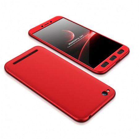 Műanyag tok 360 Full Body Xiaomi Redmi 5A Piros