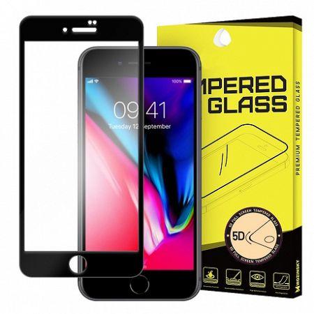 MG 5D Full Glue Super Tough kijelzővédő üvegfólia iPhone 7/8, fekete