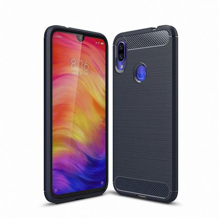 MG Carbon Case Flexible TPU szilikon tok Xiaomi Redmi Note 7, kék