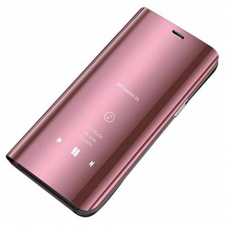 MG Clear View könyv tok Huawei Y6 2019, rózsaszín