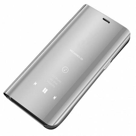 MG Clear View könyv tok Samsung Galaxy A70, ezüst