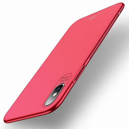 MSVII Simple Ultra-Thin műanyag tok iPhone XS Max, piros