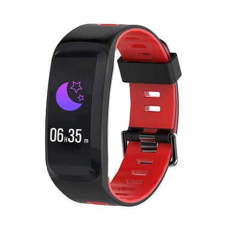 NEOGO SmartBand F4, okoskarkötő, fekete/piros