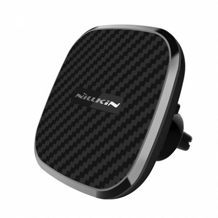Nillkin Clip-On mágneses autós tartó, vezeték nélküli töltő Qi II, fekete