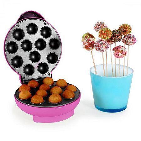OneConcept Boogie Pop Cake Maker, 1300 W, rózsaszín
