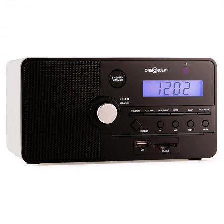 OneConcept Luzern rádiós ébresztőóra, SD, USB