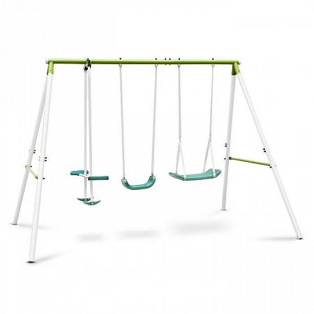OneConcept Olav, zöld, gyerekhinta acél konstrukcióval, kerti használatra