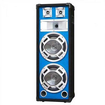 Skytec SKY-178, PA hangfal, 2 x 20 cm, kék LED effekt, 600 W