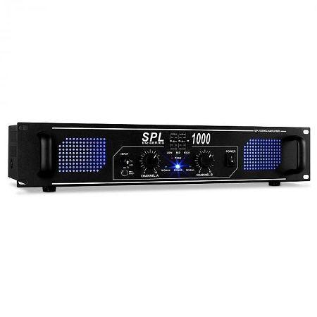 Skytec SPL1000DJ PA audió LED erősítő 2800W ekvalizer