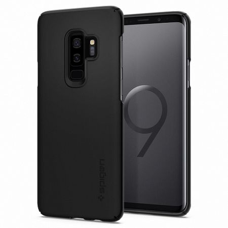 Spigen AirSkin Ultra Thin szilikon tok Samsung Galaxy S9 Plus G965, fekete (593CS22954)