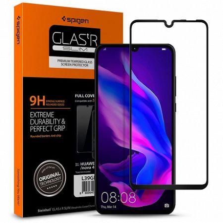 Spigen Full Cover kijelzővédő üvegfólia Huawei P30 Lite, fekete (L39GL26019)