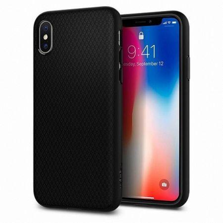 Spigen szilikon tok Liquid Air iPhone X/XS, fekete (063CS25114)