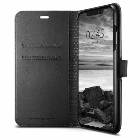 Spigen Wallet S könyv tok iPhone XS Max, fekete (065CS24841)