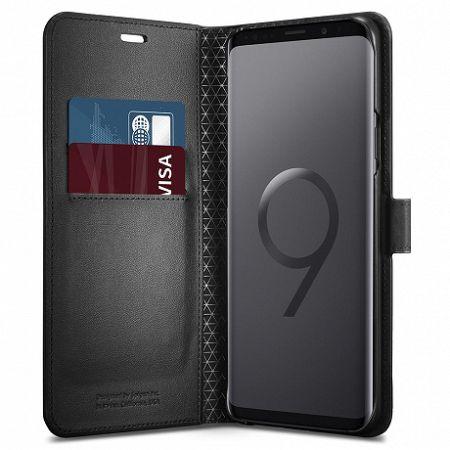 Spigen Wallet S könyv tok Samsung Galaxy S9 G960, fekete (592CS22870)