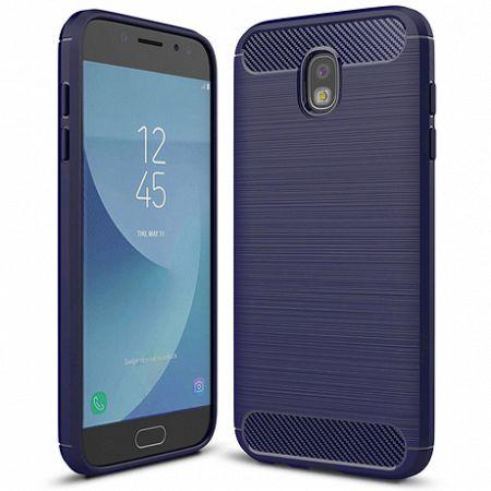 Szilikon tok Carbon Flexible Samsung Galaxy J7 2017 Kék