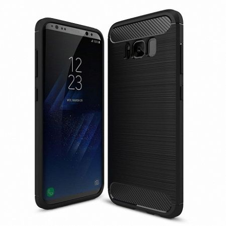 Szilikon tok Carbon Flexible Samsung Galaxy S8 Plus Fekete