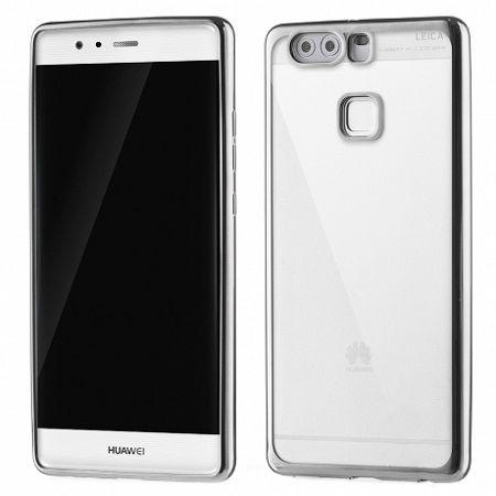 Szilikon tok Metalic Slim Huawei P9 Fekete