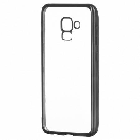 Szilikon tok Metalic Slim Samsung Galaxy A8 2018 A530 Fekete