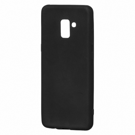 Szilikon tok Soft Matt Samsung Galaxy A8 Plus 2018 Fekete