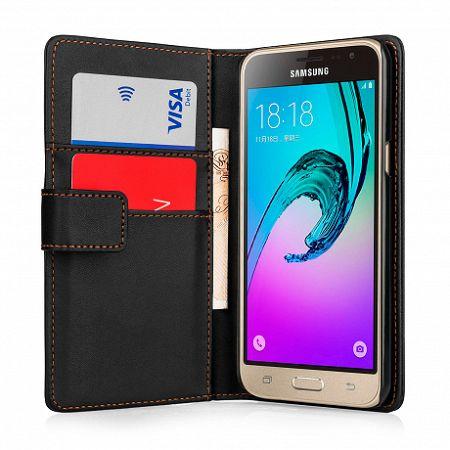 YouSave bőrtok Leather-Effect Wallet Samsung Galaxy J3 Fekete