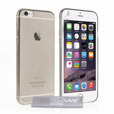 YouSave szilikon tok Smoke Ultra Thin Gel iPhone 6/6s Szürke